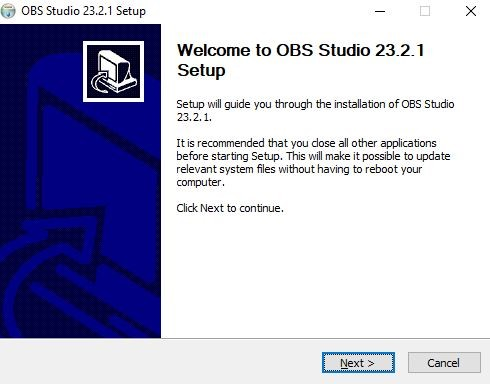 Download image of the OBS system to the computer that will be used to transmit